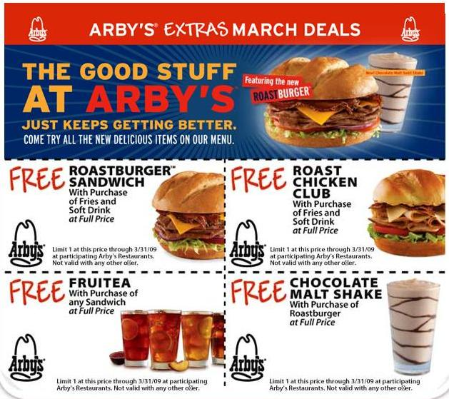 photo regarding Printable Arbys Coupons named Arbys coupon - Flower outlets inside of eco-friendly bay