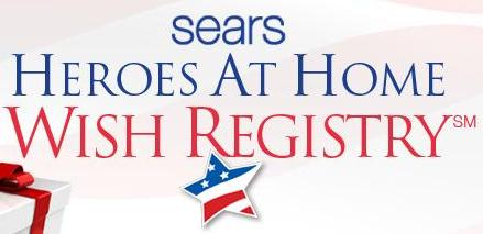 Sears Heros at Home Wish Registry