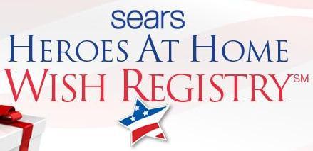 Sears Heros at Home Wish Registry