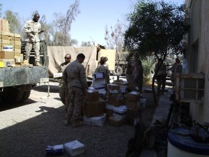 US Army mail call at FOB Normandy, Iraq OIF2